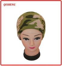 Fashion army green color jacquard men winter hat