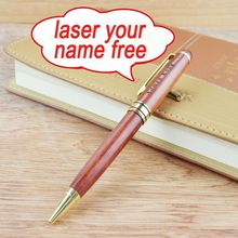 BP0001 decoration pen print logo fountain pen wood pen wholesale