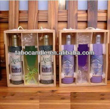 wine bottle glass candle