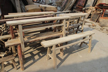 Chinese antique natural recycled solid wood bench