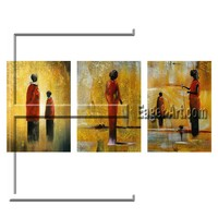 Latest decorative group painting high quality