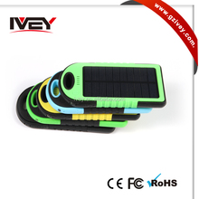 Solar Panel 5000mah Portable Backup Power Bank Pack Water/ Shock/ Dust Resistant Dual USB Charger for cellphone