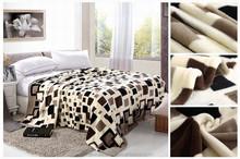 Mink polyeste raschel blanket made in China