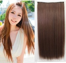 South Korea's new 5 clip hair thickening straight hair false realistic Europe and the United States have pills