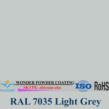RAL 7035 gris claro poliéster pintura en polvo