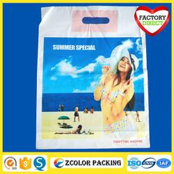 printed custom made reusable shopping plastic bags