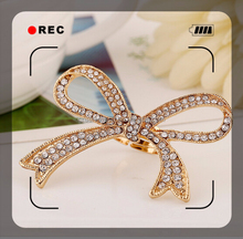 2015 fashion design zircon copper brass alloy plating gold new design gold finger ring