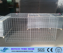 Low-Carbon Iron Wire Material and Square Hole Shape gabion stone basket