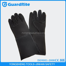 "GuardRite brand 14""/16"" long length hand sewing chrome leather gloves buyer manufacture"