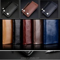 Sk-8010 First grade men's real vintage leather wallets with phone case