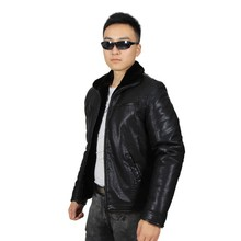 SL-W503 Plus Size Men's Leather Jackets with Imitation Cashmere Inside