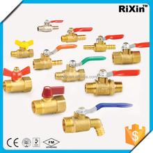 "RX 1168 1/4"" flexible brass ball valve 1/4"" brass pex fitting valve 1/4"" extended stem ball valve"