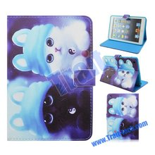 Adorable Cats Magnetic Flip Stand Case for iPad Mini, TPU Case For Ipad Mini 2 retina, PU Leather Case for iPad Mini 3