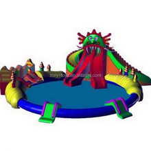 frp water slides , ZY-WS1335 octopus inflatable water slide
