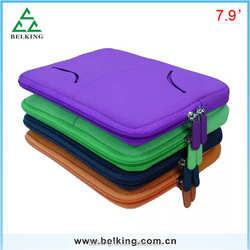 7.90inch Zip tablet bag for ipad mini, soft Sleeve Bag for ipad mini