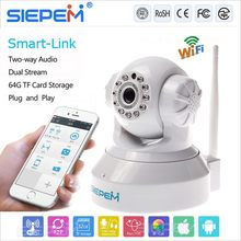 Low price alibaba china wireless p2p ip camera/ip camera hd wifi/0.8Lux/F1.4(color mode) dual stream ip camera