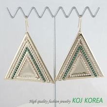 KE-135 triangle big size earrings