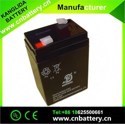 2015 hot sale, dry rechargeable battery 6v5ah maintenance free deep cycle battery