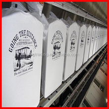 Plain cotton t shirt wholesale and screen printing