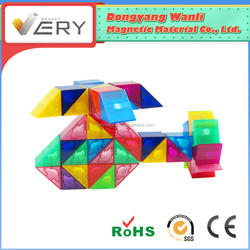 Attractive Top Educational Toys magblocks Pre-school Learning safe magnetic construction Diy Plastic Toy