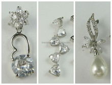 Wholesale Bulk Custom Jewelry Earrings With Zircon And Pearl