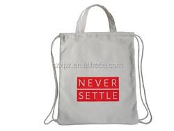 Rope Handle Bag Type Cotton Canvas Drawstring Shopping Bag