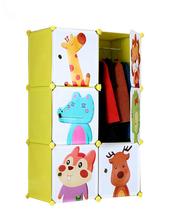 2015 newest folding plastic cheap children clothes cabinet
