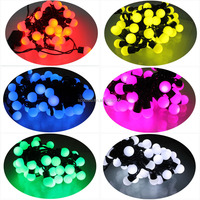2014 Custom made RGB Color Holiday party LED Christmas Ball String light