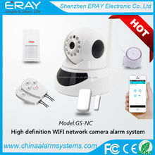 PTZ full rotate security camera set with wifi detector
