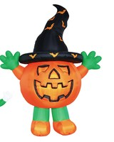 240cmH/8ft inflatable Halloween decoration pumpkin with hat