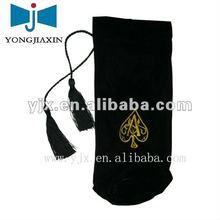 black velvet gift bags pouch with tassel