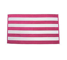 100% cotton white and pink striped bath towels