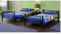Living room furniture Kids KD wood slats metal bunk bed/twins single metal bunk bed