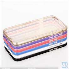 2 IN 1 Aluminum+TPU Clear Transparent MOBILE PHONE BAGS & CASES For iphone 6 case aluminium