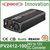 1000w 24v 12v dc-dc converter 100amp,converter 24V to 12V with CE,CB,Rohs certification