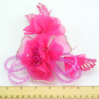 Best quality hot sale fabric flower for shoes decorations