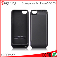 4200mah Paypal accepted Mobile power supply External battery case Cell battery case Cell charger case for iphone5/5c/5s