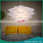 Chic completo- soprado pétala de acrílico em forma de lâmpada do teto luz do pendente moderna
