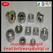 customized square welded nut, mild steel welding nuts hardware fasteners made in China