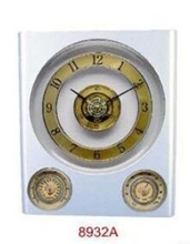 plastic weather station wall clock approve ISO9001 ROHS&CE