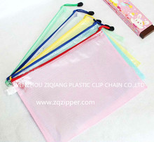 Factory Direct Sale Plastic Mesh Bag With Zipper For Document