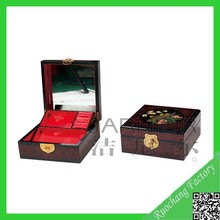 Natural handicraft mirrored jewelry box with drawers and lock/jewelry boxes for women/jewelry gift boxes for necklaces MZ-26