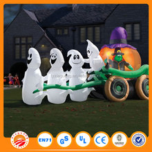 hallowmas gharry ,small plastic ghost and pumpkins for decorating