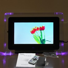 Wholesale 7 Inch LCD Display Digital Photo Frame Picture Video MP3 Player With LED Light