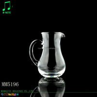 MMLY handmade glassware clear wine decanter with handle