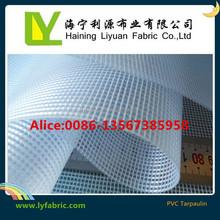 flame retardant PVC material clear Mesh Tarps