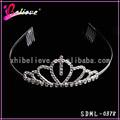 Claro diamante trançado cabelo tiara tiara do casamento, coroa de princesa tiara para a senhora