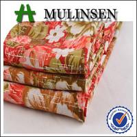 Best Selling Fashion Design Fabric,Woven Polyester Wool Peach Fabric Dutch Print