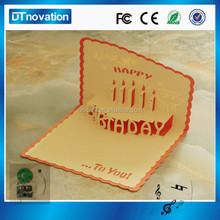 2015 popular birthday card birthday party invitation cards,paper card printing,greeting card for sound chip