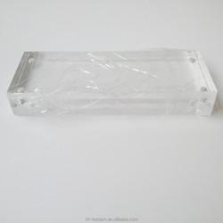 4inch x 10inch frameless acrylic magnetic photo frame